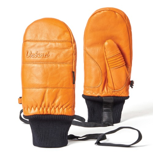 1819 UNBIND X ICAN TITAN LEATHER MITTEN ORANGE 스노우보드 벙어리장갑